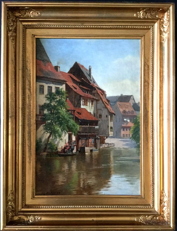 Kahn-Partie auf der Pegnitz in Alt-Nürnberg (1908)