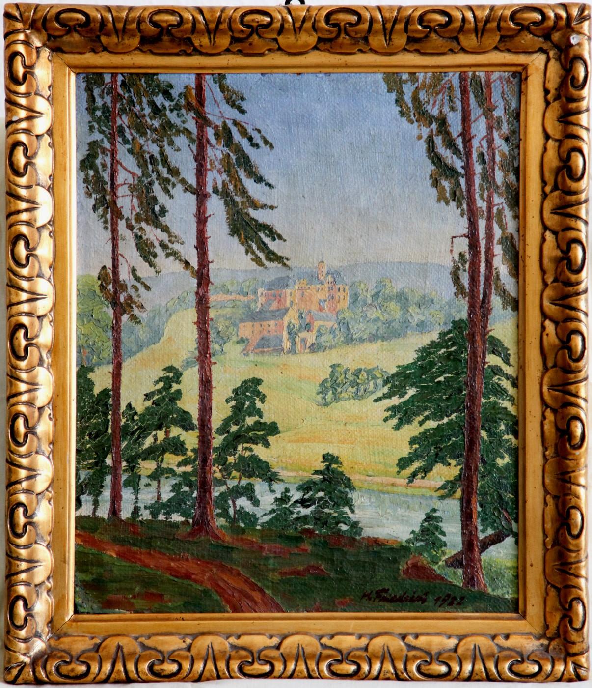 Südliche Landschaft mit Burg (1922)