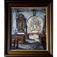 Barockes Kirchen-Interieur, wohl Kloster Neuzelle in Brandenburg