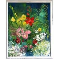 Stilleben mit Sommerblumen