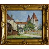 Begrünter Weg zum Schlosshof