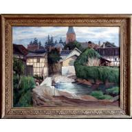 Eifeldorf mit Fachwerkhäusern (1943)