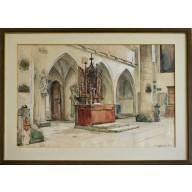 Holz-Altar der Franziskanerkirche in Rothenburg (1899)
