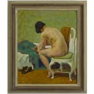 VERKAUFT! - Junge Frau beim Ankleiden (1930)