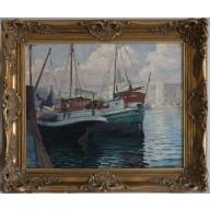 VERKAUFT! - Hamburger Schiffe in Kopenhagen (1932)