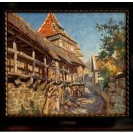 Alte Gasse in Rothenburg (1920)