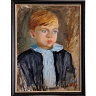 Brustbild eines blonden hanseatischen Jungen (1947)